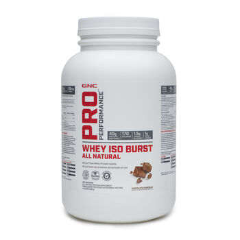 Whey Iso Burst All Natural Chocolate | GNC